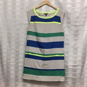 Express neon striped shift dress Sz M Dress C